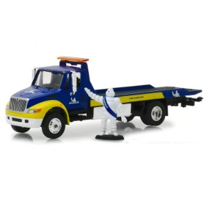 Caminhão Guincho Prancha International DuraStar Michelin HD Trucks Serie 15 1/64 Greenlight