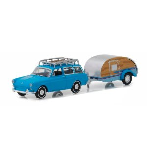 Volkswagen Type 3 Squareback 1961 e Trailer Hitch & Tow Serie 14 1/64 Greenlight