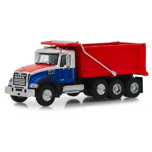 Caminhão Caçamba Mack Granite 2019 SD Trucks Serie 6 1/64 Greenlight