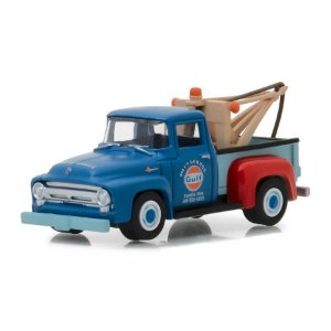 Guincho Ford F100 1956 Gulf Blue Collar Serie 4 1/64 Greenlight