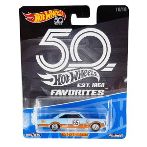 Ford Galaxie 1965 Gulf 1/64 Hot Wheels 50 Anos Favorites