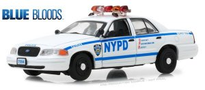 Ford Crown Victoria Policia Interceptor 2001 Blue Bloods 1/43 Greenlight Hollywood