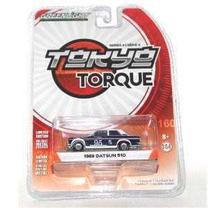 Datsun 510 1969 Tokyo Torque 1/64 Greenlight