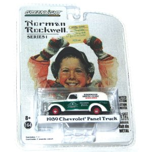 Chevrolet Panel Truck 1939 Norman Rockwell 1/64 Greenlight