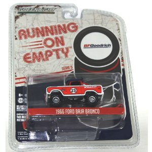Ford Baja Bronco 1966 Running on Empty 1/64 Greenlight