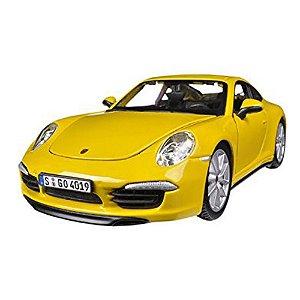 Porsche 911 Carrera S amarela 1:24 BBURAGO