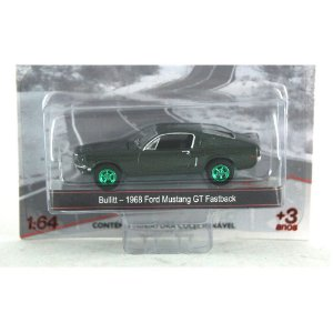 BULLIT - 1968 FORD MUSTANG GT FASTBACK 1/64 GREENLIGHT GREEN