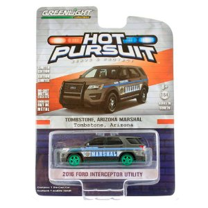 GREEN MACHINE Ford Interceptor Utility 2016 Hot Pursuit 1/64 Greenlight