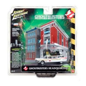 Diorama Ecto-1A Cadillac 1959 Ghostbusters Headquarters 1/64 Johnny Lightning