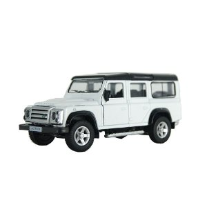 Land Rover Defender Branca Luz e Som 1/32 Hot Wheels