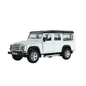 Land Rover Defender Branca Luz e Som 1/32 Hot Wheels