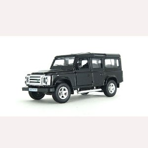 Land Rover Defender Preta Luz e Som 1/32 Hot Wheels