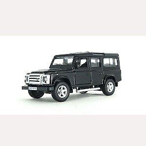 Land Rover Defender Preta Luz e Som 1/32 Hot Wheels
