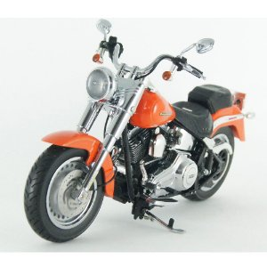 Harley Davidson: FLSTF Fat Boy (2012) - Laranja - 1/12 Highway61