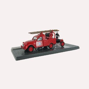 Pick-up Citroen 2CV AZU-B bombeiros 1/43 Atlas