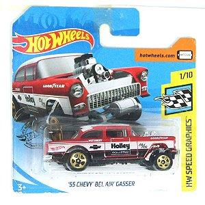 1955 Chevy Bel Air Gasser HW Speed Graphics 164 HotWheels