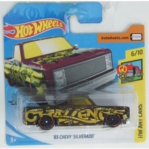 1983 Chevy Silverado HW Art Cars 164 HotWheels