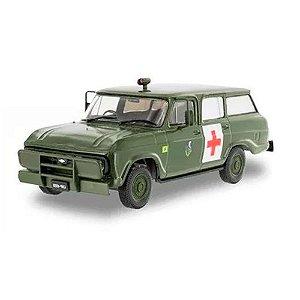 77 Chev Veraneio  Ambulância Exército Brasileiro 1/43 Salvat