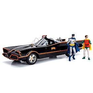 1966 Batmobile com Bonecos 1/18 Jada Toys