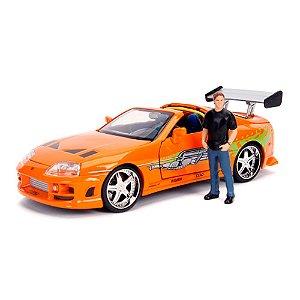 Toyota Supra Velozes e Furiosos Brian com Boneco 1/24 Jada Toy