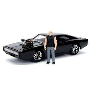 Dodge Charger Fast And Furious DOM com Boneco 1/24 Jada Toys