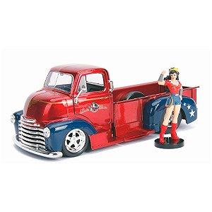 1952 Chevy Coe Mulher Maravilha com boneco 1/24 jada Toys