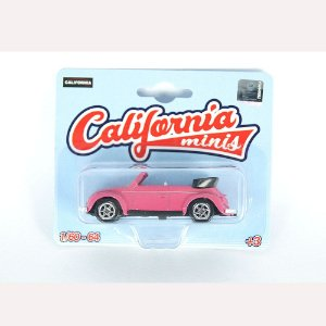 Volkswagen Fusca Conversível 1/64 California Minis