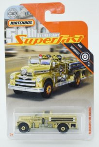 Seagrave Fire Engine Superfast 50th 1/64 Matchbox
