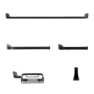 Kit Acessórios Metal Nias Preto Fosco