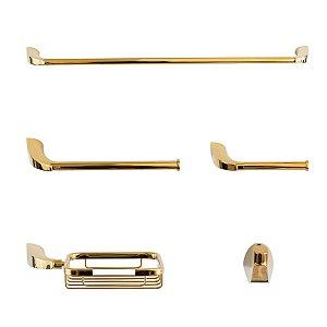 Kit Acessórios Metal Nias Dourado