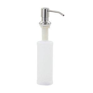 Dosador de Embutir Detergente  Sabonete Líquido Inox 350ml