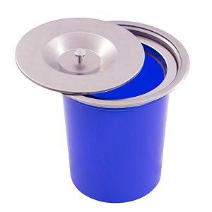 Lixeira Embutida Plástico Aço Brush  Inox  de Embutir 5L