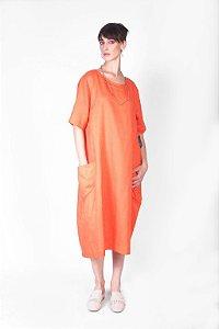Vestido Bolso Linho Wash v.19
