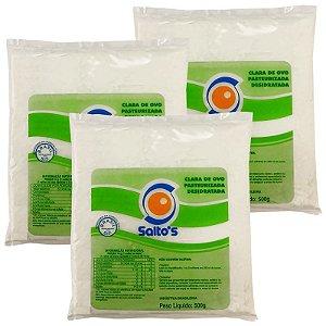 Albumina 80% Proteína 500g - Salto's Alimentos: 3 unidades
