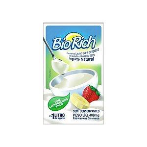 Fermento Bio Rich iogurte natural: 3 sachês 400 mg
