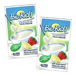 Fermento Bio Rich iogurte natural: 6 sachês 400 mg