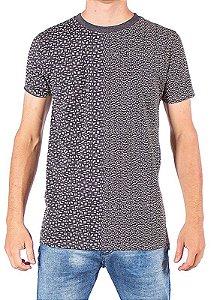 Camiseta Longline Estampada Cinza 0001