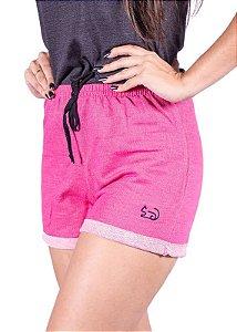 Short Moletinho Pink Com Laço 3229