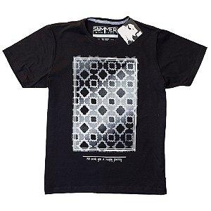 Camiseta Preta Com Estampa 4200