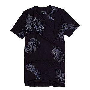 Camiseta Longline Estampada Preta FORE003