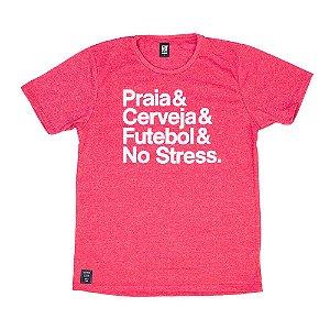 Camiseta Com Estampa Vermelha 0011