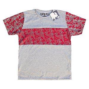 Camiseta Recorte Estampado Mescla 4205