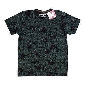 Camiseta Estampada Preta 4204