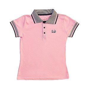 Blusa Polo Piquet Rosa 3236