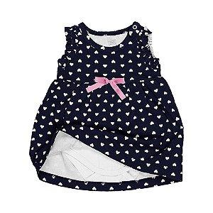 Vestido Bebê c/ Body Interno - Marinho - Feminino