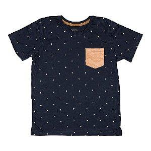 Camiseta Bolso Suede Marinho 0014