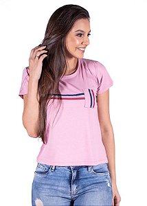 Blusa Feminina Com Bolso Rosa 3203