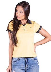 Blusa Polo Piquet Amarela 3236
