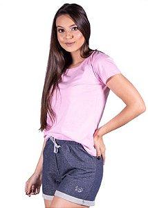 Blusa Básica Rosa 999