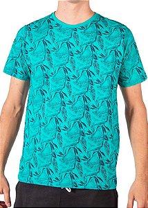 Camiseta Estampada Verde Água 4204